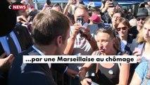 """Une Marseillaise interpelle Emmanuel Macron: """"Oui ça a été voté avant, mais vous êtes président aujourd'hui et c'est à v"""