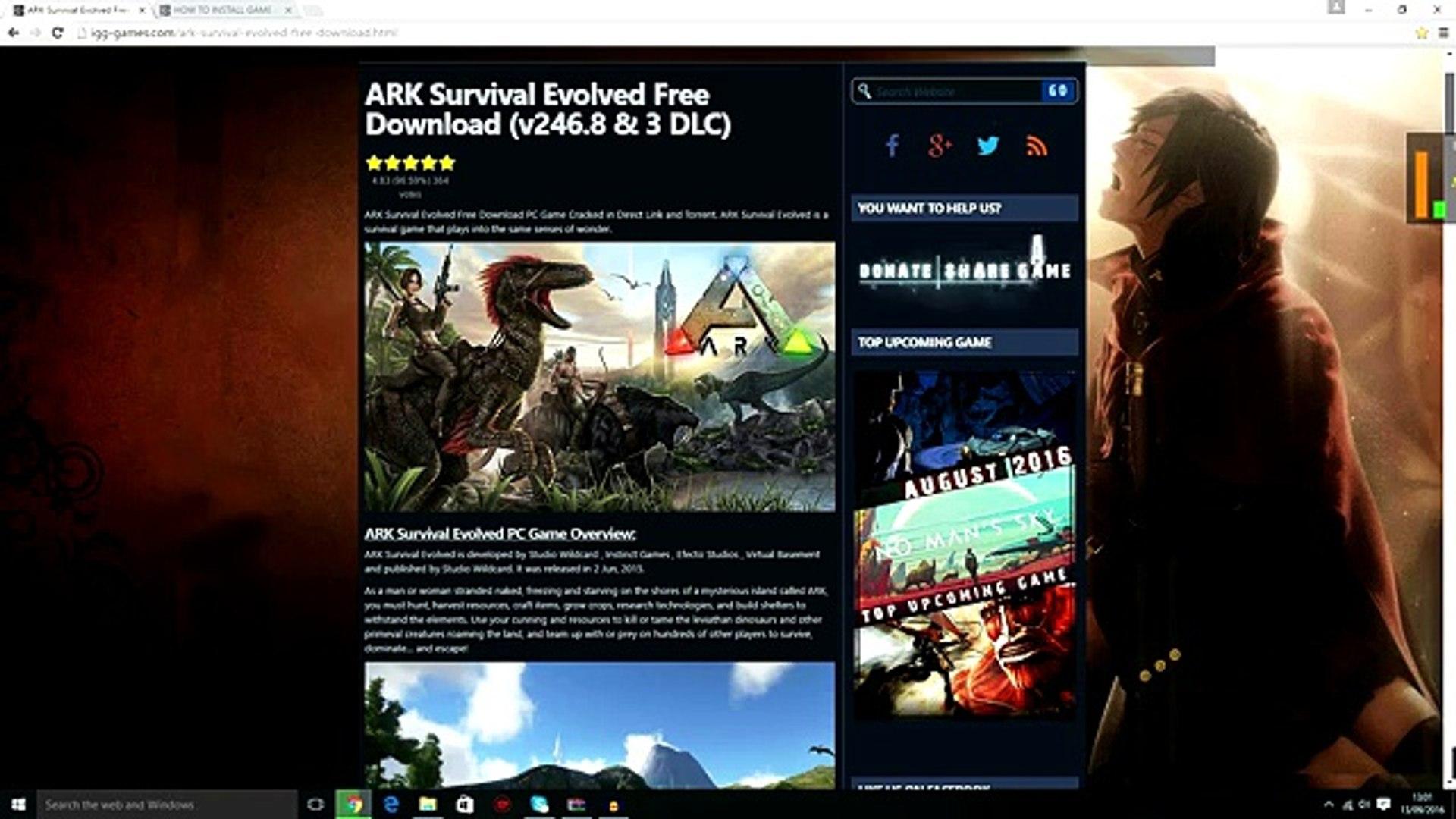 ark survival evolved download free
