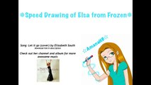 ❅ Speed Drawing of Elsa from Frozen - Colored Pencils ❅
