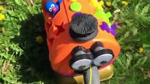 SESEME STREET Toys Ride the TELETUBBIES NOO-NOO Outside!