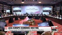 Ministers and senior officials from Asia and Europe talk about economy at the 7th ASEM Economic Ministers' Meeting held