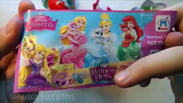 Распаковываем Киндер Сюрприз Королевские Питомцы (Kinder Surprise Disney Princess - Palace