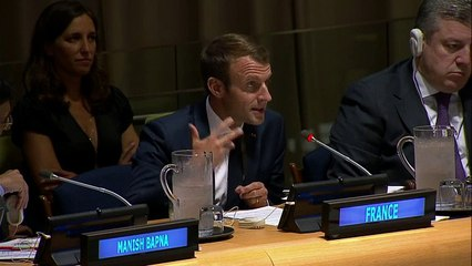 Allocution du Président de la République Emmanuel Macron lors de l'événement de l'Open Government Partnership en marge de la 72e Assemblée Générale des Nations Unies (19 Septembre 2017)