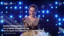 phần thi của cô bé 14 tuổi không có tay - Lorelai Mosnegutu trong cuộc thi Rumani Got Talent
