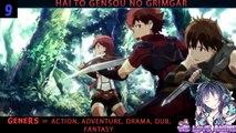 Top 10 Action Fantasy Magic MMORPG/Game Based Anime list
