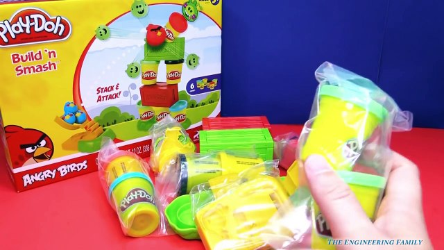 ANGRY BIRDS Play Doh Angry Birds Smash Up a Play DOh Angry Birds Video