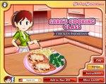 Cuisine pour enfants petit en ligne Sara Jeu de parmesan classe-poulet