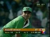 Saeed Anwar 196 Runs Against India in 1997