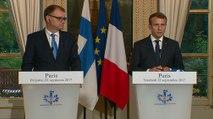 Déclaration conjointe d'Emmanuel Macron et de Juha sipilä, Premier ministre de Finlande