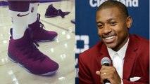 Isaiah Thomas Tried to JACK a Pair of LeBron James' New 15s
