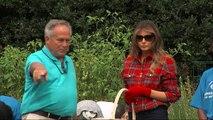 White House Leeks: Melania goes gardening