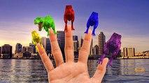 Animaux les couleurs dinosaures la famille doigt gorille tigre contre sauvage Animation 3D