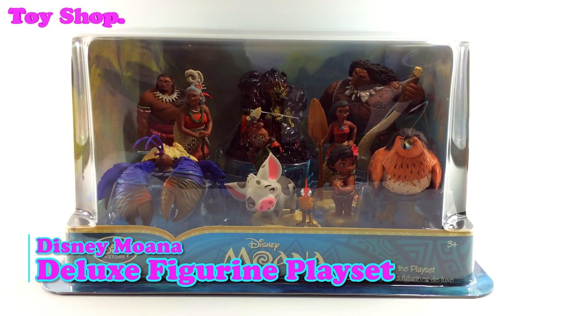 Disney Moana figurine playset of 5 Jouet Figurines Moana Maui Pua Hei Hei Tamatoa