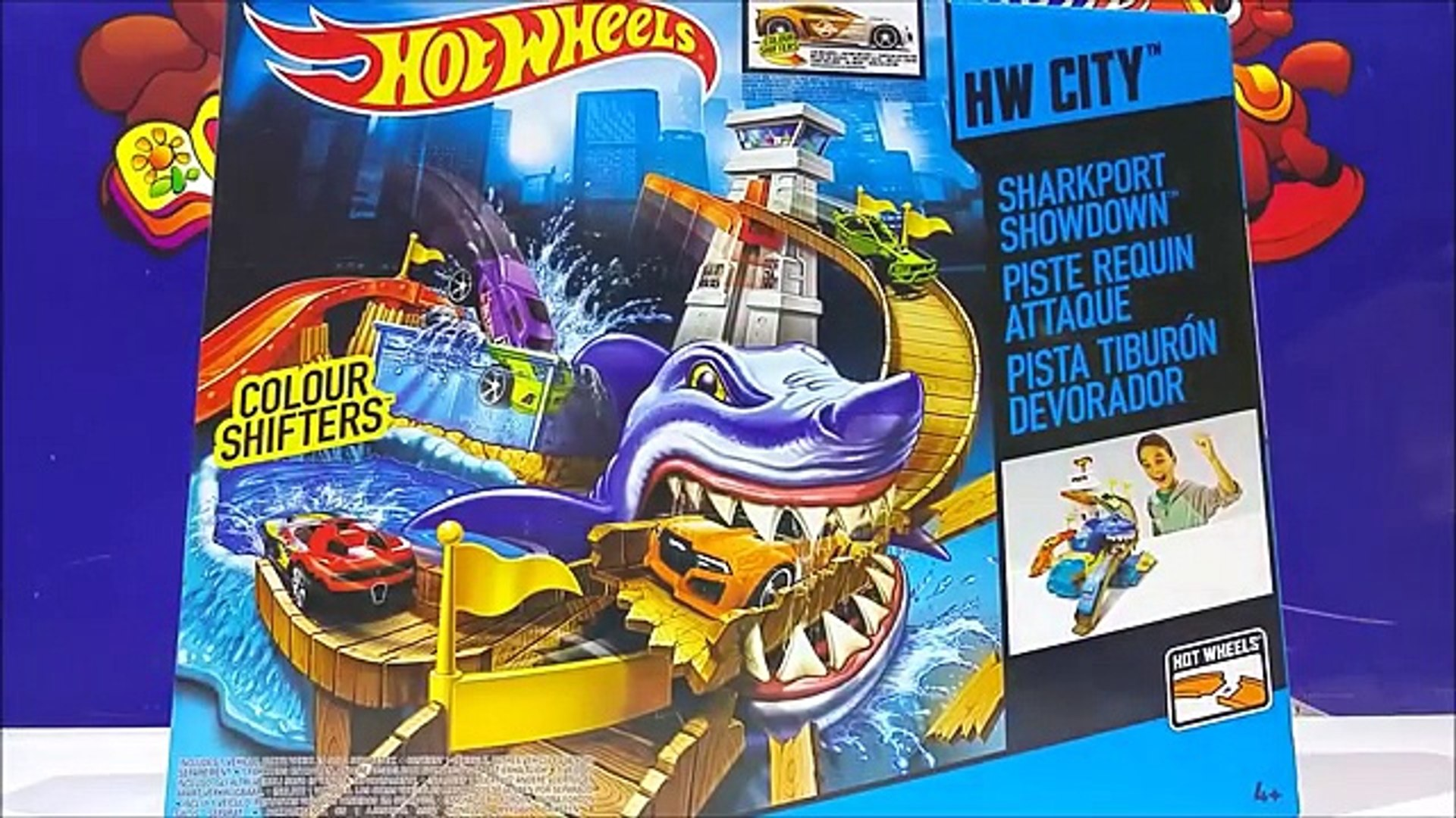 Hot Wheels Color Shifters Sharkport Showdown Trackset With New Hot Wheels Cars For Kids Worldwide