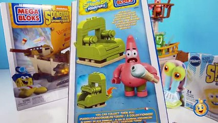 SpongeBob Sponge Out of Water Toy Review of the Mega Bloks Burgermobile Showdown Food Truck