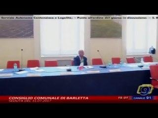Diretta Consiglio Comunale di Barletta del 31/07/2017