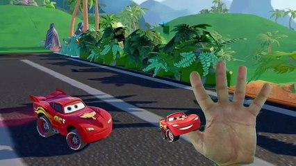 Et des voitures dessin animé la famille doigt pour dans enfants foudre garderie rimes chanson Disney mcqueen pl