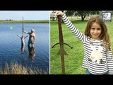 Shocking Girl DISCOVERS Excalibur Sword At Its Resting Place