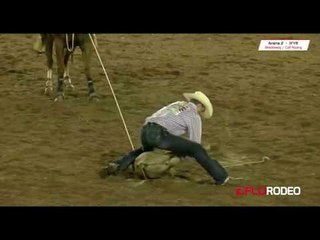 Tie Down Roping at International Finals Youth Rodeo 2017