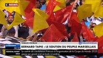 """L'hommage des supporters de l'OM hier soir à Bernard Tapie au Stade Vélodrome: """"Bernard dans cette épreuve reste le boss"""