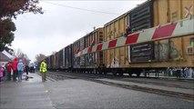 Train Race! CSX Q401 vs Amtrak P079 at Ashland Train Day new