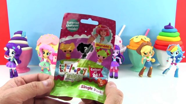 My Little Pony Equestria Girls Minis Dolls Play Doh Ice Cream Toy Surprises Shopkins Splashlings