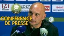 Conférence de presse FC Sochaux-Montbéliard - AC Ajaccio (1-6) : Peter ZEIDLER (FCSM) - Olivier PANTALONI (ACA) - 2017/2018
