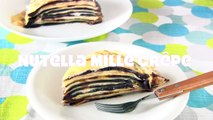 Nutella Mille Crêpe Cake (How to Make Crepes) ミルクレープ (クレープ�