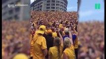 Ce club de football universitaire instaure une nouvelle tradition pour les enfants malades de l'hôpital à côté de leur stade