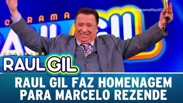 Raul Gil faz homenagem para Marcelo Rezende