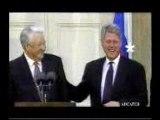 Pub Celio - Boris Yeltsin et Bill Clinton