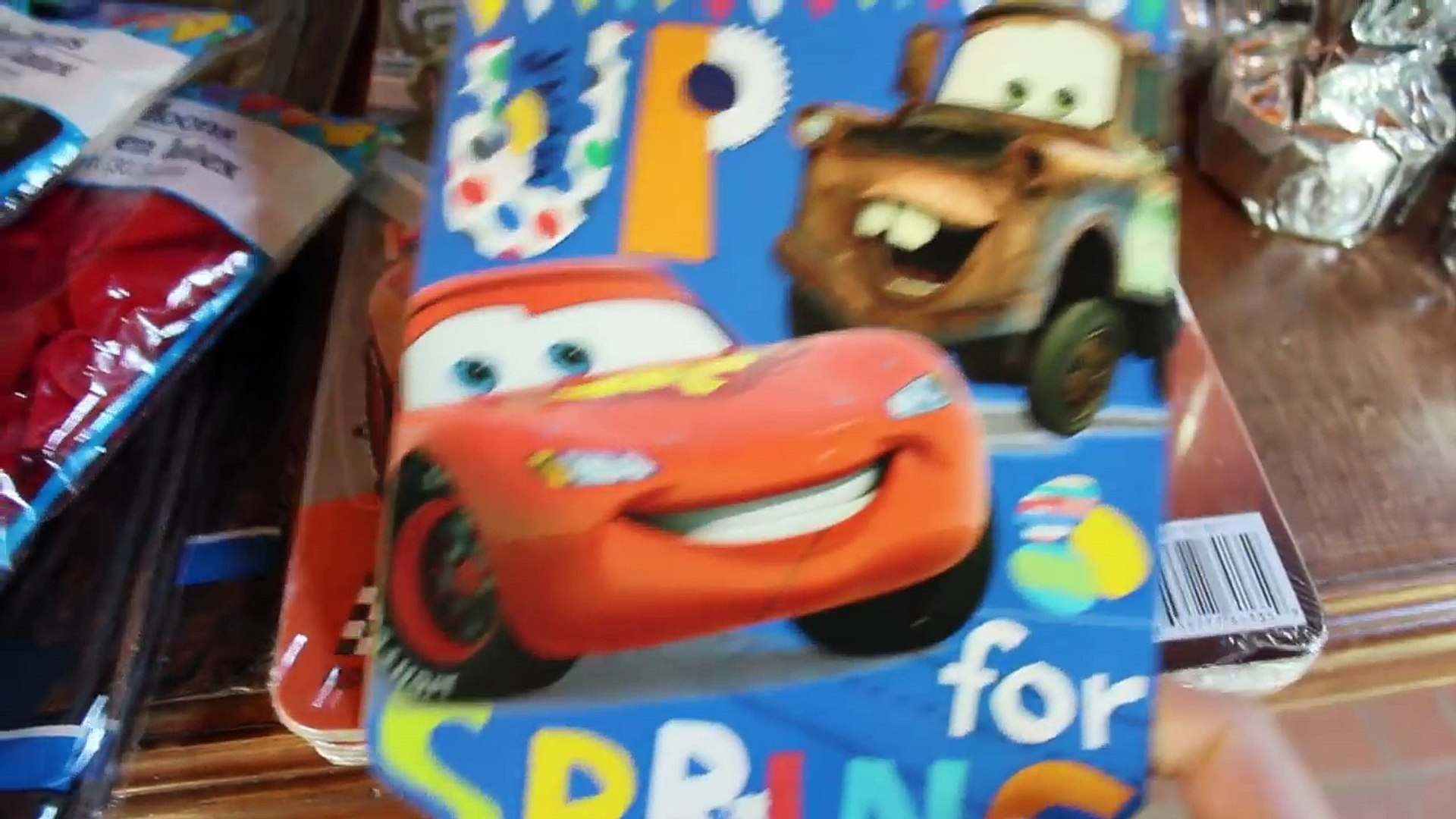 DOLLAR TREE BIRTHDAY! | Movie Cars Kids Party