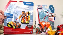 TRANSFORMERS RESCUE BOTS NEW ROBOTS BRUSHFIRE AND SEQUOIA, DRAKE DRAGON BOT, SERVO ROBO DOG POWER UP