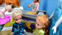 Elsa And Anna Toddlers At MCDONALDS! Anna Toddler Gets BURNED! - toddler anna and elsa eat at mcdo