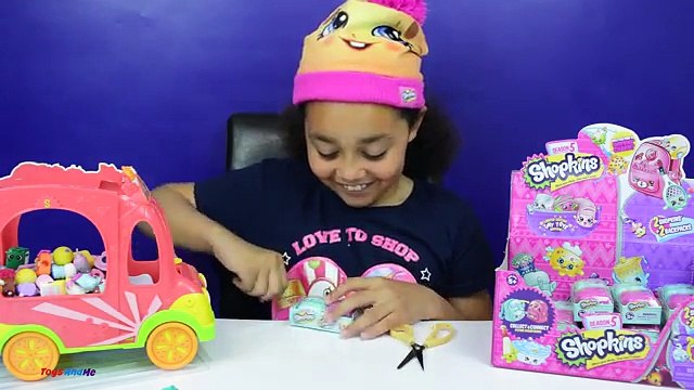 Shopkins Season 5 Petkins Backpack Case Mega Blind Bags Toy Opening | Toys AndMe