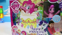 My Little Pony MLP Poppin Pinkie Pie Family Game Pinkie Pie & Friends Birthday Cake Surprise Toy!