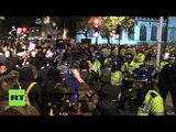 #MillionMaskMarch: Scuffles between protesters & police in London
