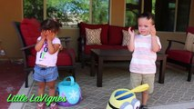 EASTER EGG HUNT SHOPKINS Challenge Fun Egg Hunt Toys with Minions and FROZEN! ~ Little LaVignes