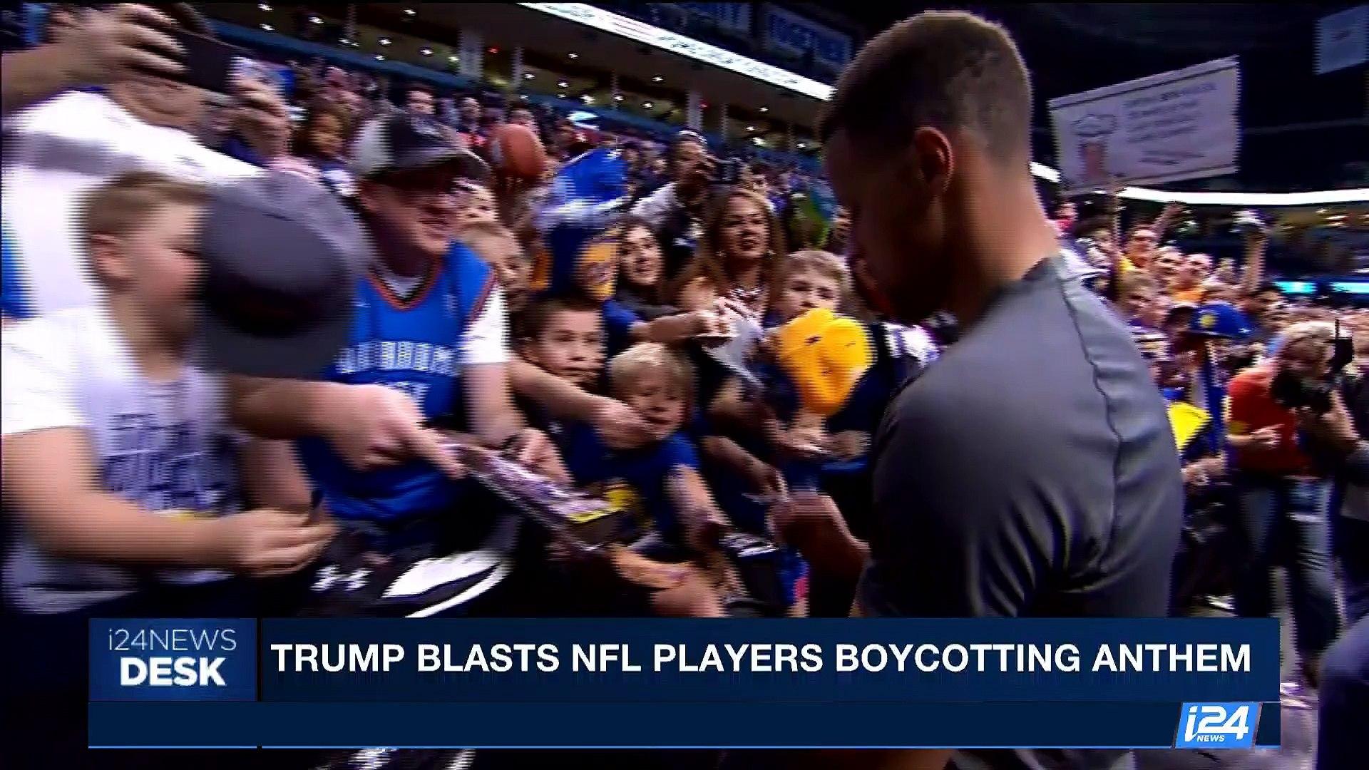i24NEWS DESK | Trump blasts NFL players boycotting anthem | Sunday, September 24th 2017