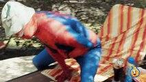 SPIDERMAN & VENOM Fun Kids Video, Venom Tricks Spidey Who Gets a Tummy Ache, Funny Superhero Movie