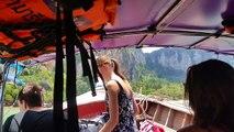 Boat Ride to Railay Beach in Krabi (Ao Nang), Thailand