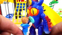 Go Go Baymax~! Giant Monsters in Playmobil Town