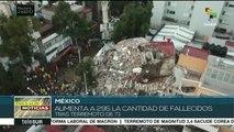 Aumenta a 295 el número de fallecidos por el sismo en México