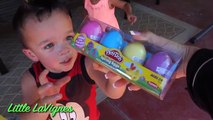 PLAY DOH EASTER EGG HUNT Challenge Fun Play-doh colours + playdough Eggs MINIONS and FROZEN!