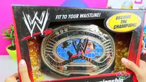 GIANT WWE Surprise Egg Play Doh with Cool SmackDown Raw Superstars Toys Inside Kids Video