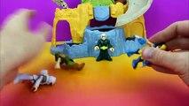 Imaginext Playskool Batman, Spider-man, Wolverine, Superman, Captain America train for battle