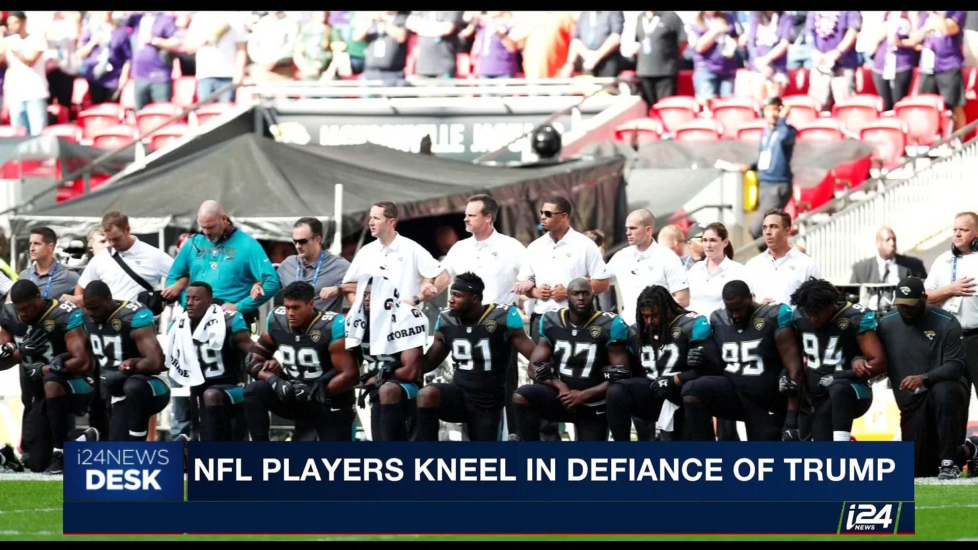 i24NEWS DESK | NFL players kneel in defiance of Trump | Sunday, September 24th 2017