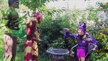 Frozen Elsa & Spiderman Hulk Becomes Small Princess Anna, Maleficent, Spidergirl Superheroes IRL