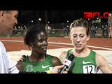 Sally Kipyego and Julia Lucas after huge 5k runs at 2012 Payton Jordan Invite