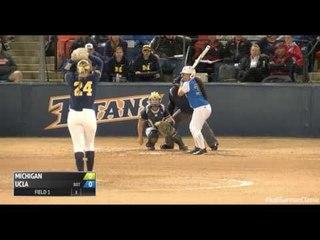 UCLA's Brianna Tautalafua Hit In Face By Michigan's Tera Blanco